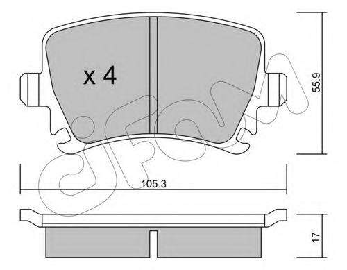 Колодка торм. AUDI A4, SEAT, SKODA,VW задн. (пр-во Cifam)                                            CIFAM 8225530