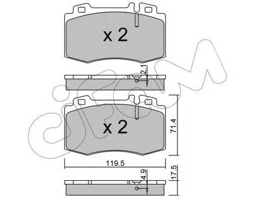 Колодка торм. MB M-CLASS (W163), S-CLASS (W220) передн. (пр-во Cifam)                                CIFAM 8225635