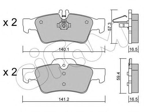 Колодка торм. MB C-CLASS (W203, S203), CLS (C219), E-CLASS задн. (пр-во Cifam)                       CIFAM 8225680