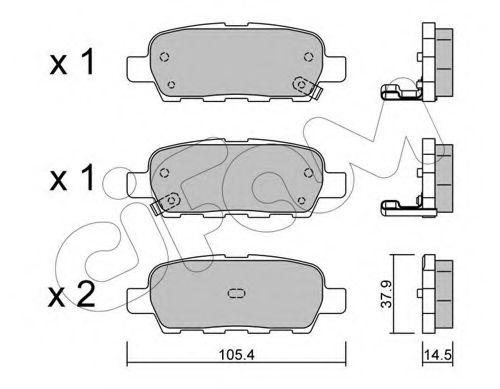 Колодка торм. NISSAN/RENAULT QASHQAI/X-TRAIL/KOLEOS задн. (пр-во Cifam)                               арт. 8226120