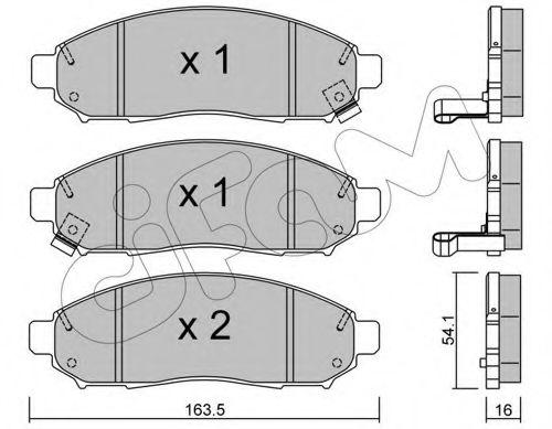 Колодка торм. NISSAN PATHFINDER передн. (пр-во Cifam)                                                CIFAM 8227430