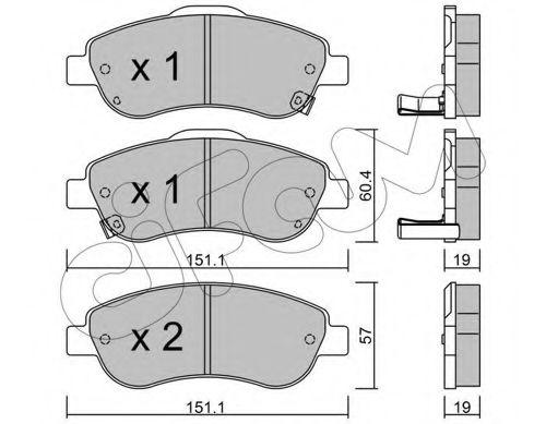 Колодка торм. HONDA CR-V III передн. (пр-во Cifam)                                                   CIFAM 8227890