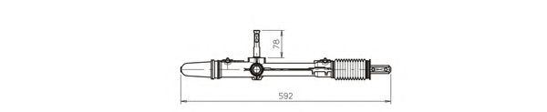 Рейка усилителя рулевого механизма (Возможно восстановленное изделие) GENERALRICAMBI CI4036