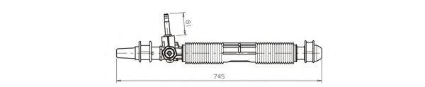 Рейка усилителя рулевого механизма GENERALRICAMBI OP4036