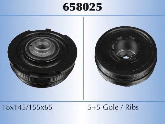 Шків демферний коленвала BMW M47/B20 E46/E39 2.0D 00-> MALÒ 658025