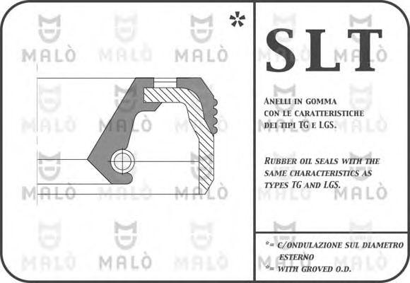AKRON Сальник коленвала 83X113X14 зад. FIAT DUCATO /IVECO MALÒ 743SI