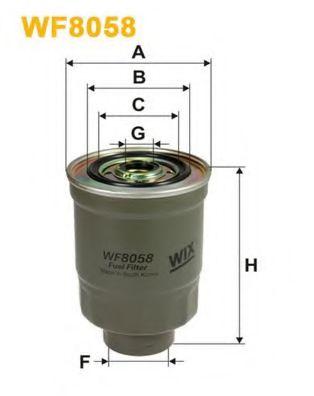 Фильтр топливный (PP 852)  арт. WF8058