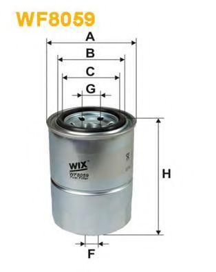 Фильтр топливный (PP 853)  арт. WF8059