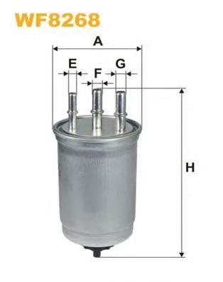 Фильтр топливный (PP 838/4)  арт. WF8268