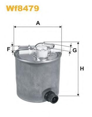 Фильтр топлива NISSAN QASHQAI/QASHQAI+2, X-TRAIL; RENAULT KOLEOS 2.0dCi 02.07- WIXFILTERS WF8479