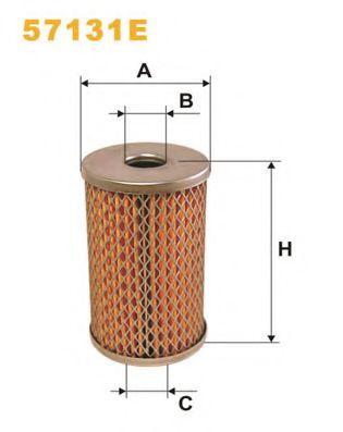Фильтр гидроусилителя руля Фильтр масляный (смен.элем.) рулевое упр. 57131E/OM512 (пр-во WIX-Filtron) WIXFILTERS арт. 57131E