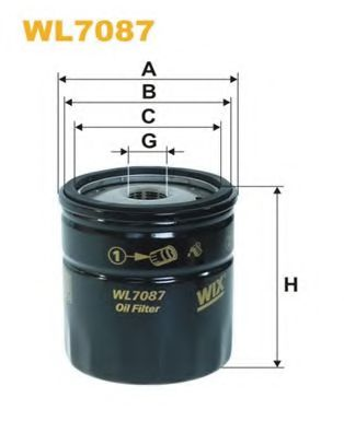 Фильтр масляный (OP 541)  арт. WL7087