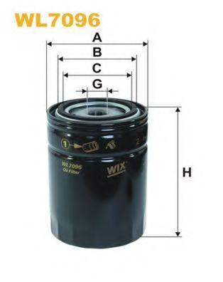 Фильтр масляный  арт. WL7096