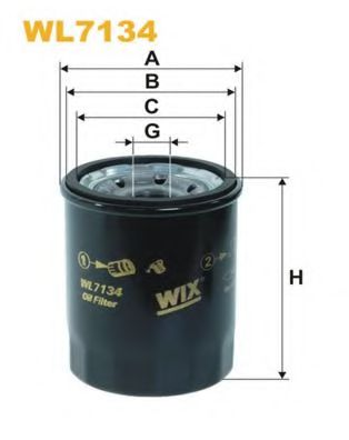 Фильтр масляный (OP 575)  арт. WL7134