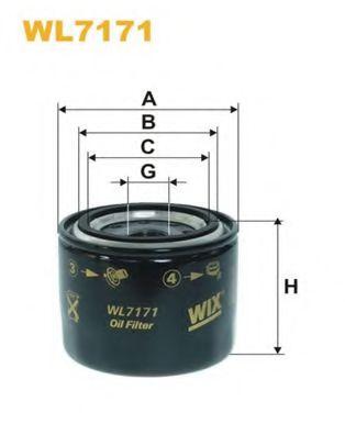 Фильтр масляный (OP 617)  арт. WL7171