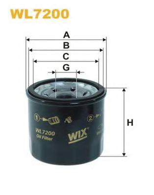 Фильтр масляный MAZDA, NISSAN WL7200/OP595 (пр-во WIX-Filtron)                                        арт. WL7200