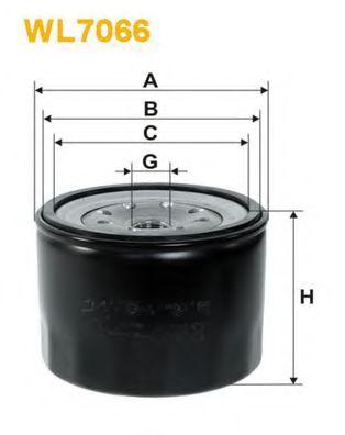 Фильтр масляный (OP 519/1)  арт. WL7066