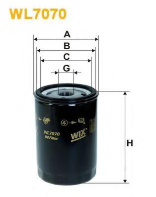 Фильтр масляный (OP 526)  арт. WL7070