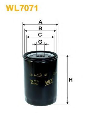 Фильтр масляный (OP 526/1)  арт. WL7071