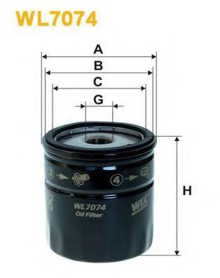 Фильтр масляный (OP 629)  арт. WL7074