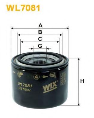 Фильтр масляный (OP 536)  арт. WL7081