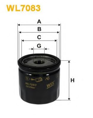 Фильтр масляный ALFA ROMEO 145, 146, 156, 166 WL7083/OP537/1 (пр-во WIX-Filtron)                      арт. WL7083