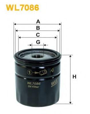 Фильтр масляный (OP 540/1)  арт. WL7086