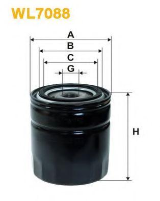Фильтр масляный (OP 542)  арт. WL7088