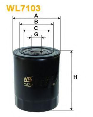 Фильтр масляный MITSUBISHI COLT WL7103/OP555 (пр-во WIX-Filtron)                                      арт. WL7103
