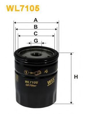 Фільтр масляний WIXFILTERS арт. WL7105