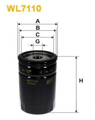 Фильтр масляный (OP 559)  арт. WL7110