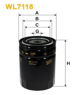 Фильтр масляный WL7118/OP563/1 (пр-во WIX-Filtron UA)                                                 арт. WL7118