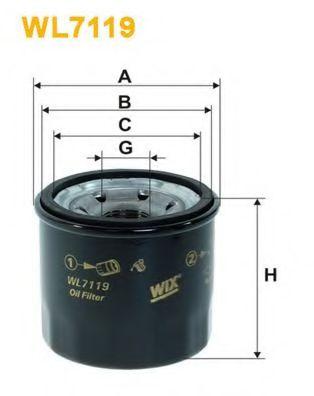 Фильтр масляный (OP 564)  арт. WL7119