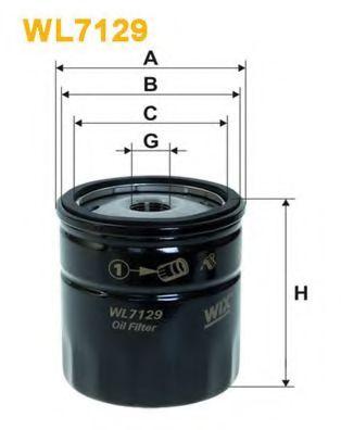 Фильтр масляный  Lanos/Aveo(OP 570)  арт. WL7129
