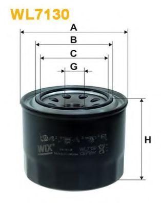 Фильтр масляный (OP 571)  арт. WL7130