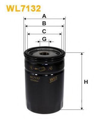 Фильтр масляный двигателя MERCEDES WL7132/OP573 (пр-во WIX-Filtron)                                   арт. WL7132