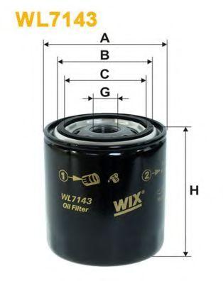 Фильтр масляный NISSAN WL7143/OP581 (пр-во WIX-Filtron)                                               арт. WL7143