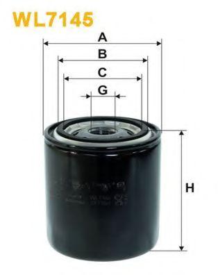 Фильтр масляный двигателя TOYOTA, SUZUKI, SUBARU OP583/WL7145 (пр-во WIX-Filtron)                     арт. WL7145