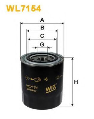 Фильтр масляный (OP 587)  арт. WL7154