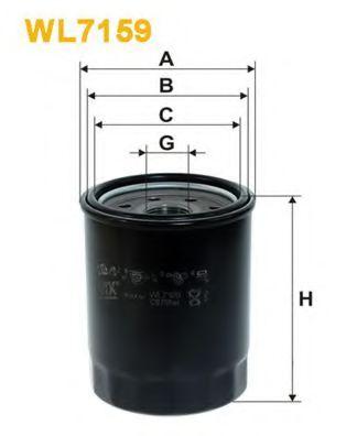 Фильтр масляный WL7159/OP593 (пр-во WIX-Filtron)                                                      арт. WL7159
