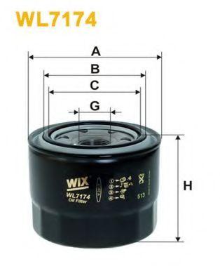 Фильтр масляный двигателя TOYOTA COROLLA WL7174/OP619 (пр-во WIX-Filtron)                             арт. WL7174