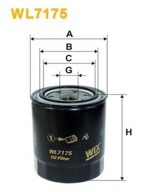 Фильтр масляный двигателя TOYOTA WL7175/OP619/1 (пр-во WIX-Filtron)                                   арт. WL7175