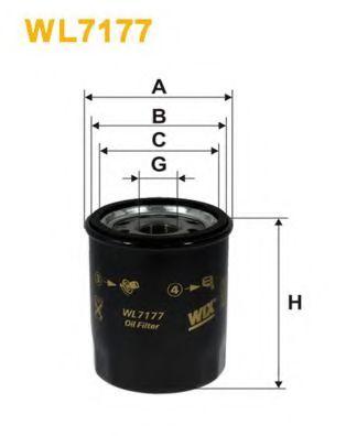 Фильтр масляный TOYOTA, SUZUKI, SUBARU WL7177/OP621 (пр-во WIX-Filtron)                               арт. WL7177