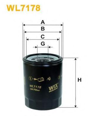 Фильтр масляный MAZDA 626 OP622/WL7178 (пр-во WIX-Filtron)                                            арт. WL7178