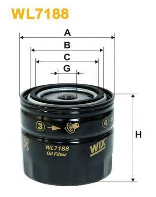 Фильтр масляный (OP 628)  арт. WL7188