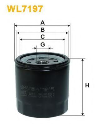 Фильтр масляный двигателя ISUZU WL7197/OP634 (пр-во WIX-Filtron)                                      арт. WL7197