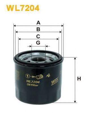 Фильтр масляный RENAULT CLIO II WL7204/OP642/2 (пр-во WIX-Filtron)                                    арт. WL7204