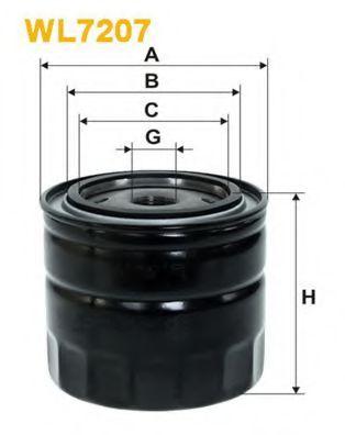 Фильтр масляный (OP 645)  арт. WL7207