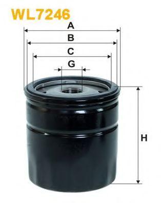 Фильтр масляный WL7246/OP699 (пр-во WIX-Filtron)                                                      арт. WL7246
