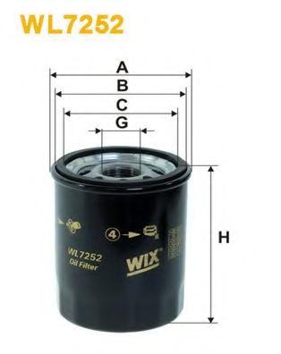 Фильтр масляный (OP 545/2)  арт. WL7252